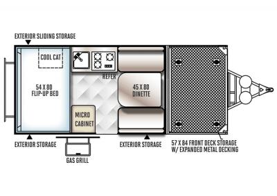 Rockwood A122TH Foldup Trailer Floor Plan - Copy - Copy